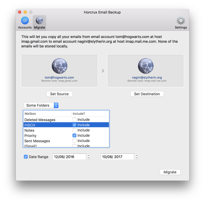 Horcrux Imap Email Backup For Mac Os X